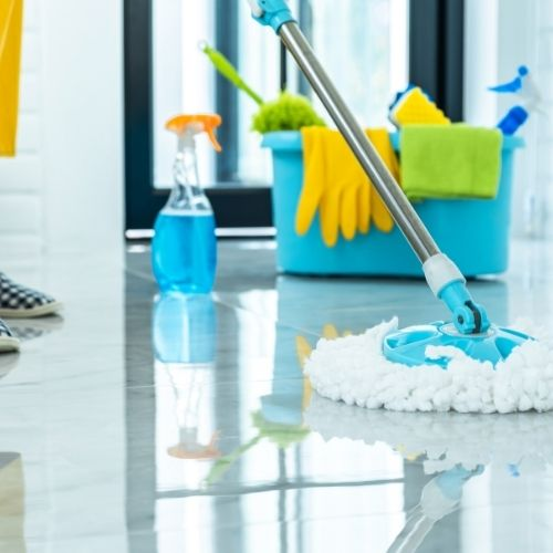 Mopping floor • Home Maintenance • Paragon Home Services • World-class home services in Lakeland Florida